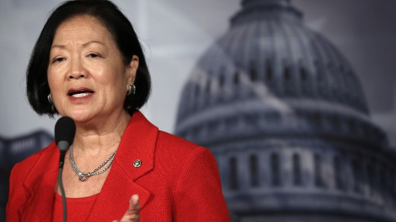 U.S. Sen. Mazie Hirono, a Democrat from Hawaii, is the first woman of color to serve in both chambers of Congress. Hirono was elected to the House in 2007 and to the Senate in 2012.