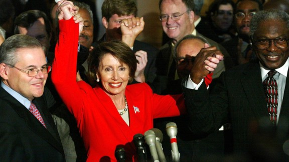 House Minority Leader Nancy Pelosi, a Democrat from California, is the first woman to lead a party in Congress.