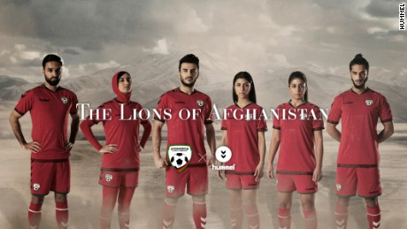 001853c6a2d Afghanistan unveils soccer kit with hijab - CNN