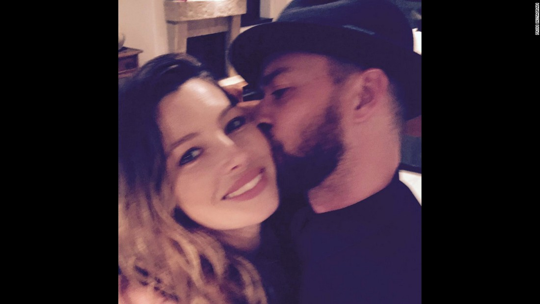 "Singer Justin Timberlake kisses his wife, actress Jessica Biel, on Thursday, March 3. ""Happy BAE-DAY, baby!!"" <a href=""https://www.instagram.com/p/BChHxvcydtN/?taken-by=justintimberlake&hl=en"" target=""_blank"">he said on Instagram.</a> ""I can't put into words what you mean to me... You are the GREATEST Mommy and Wife a man could ever ask for. I love you to the MOON AND BACK!!!"""