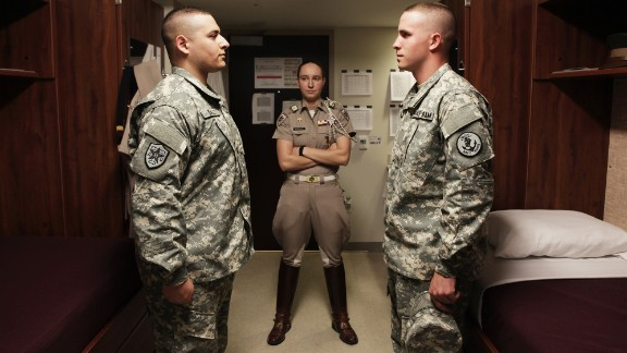 Michalke commands 2,400 cadets, most of whom are male