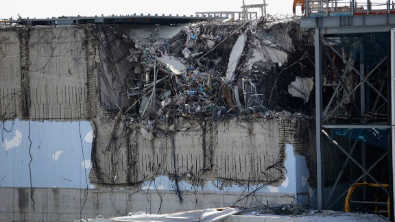 OKUMA, JAPAN - FEBRUARY 24:  A general view of damage to No. 3 reactor building at Fukushima Daiichi nuclear power plant. Five years on, the decontamination and decommissioning process at the Tokyo Electric Power Co.