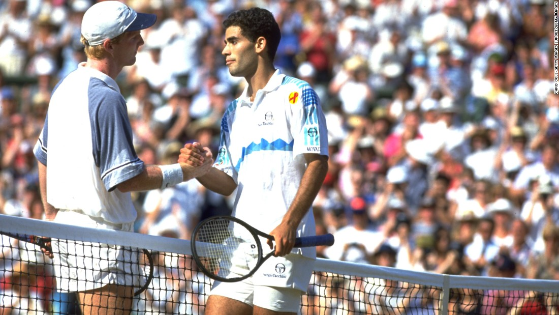 "Sampras won half of his majors at Wimbledon, despite admitting to ""hating"" the grass surface in his early days. He defeated Jim Courier for his first crown in 1993 and won his last in 2000 against Australia's Patrick Rafter when he became the first man to reach 12 grand slam titles."