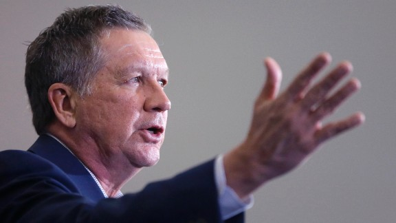 Republican presidential candidate, Ohio Gov. John Kasich speaks at a rally at the Monroe County Community College, Monday, March 7, 2016, in Monroe, Mich. (AP Photo/Carlos Osorio)