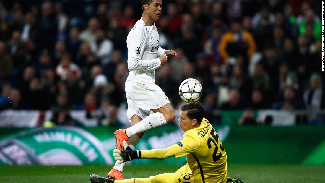 Cristiano Ronaldo was closed down by Wojciech Szczesny several times before breaking the deadlock with a goal in the 63rd minute.