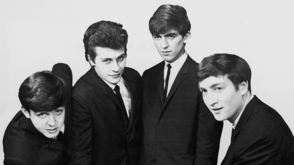 L-R: Paul McCartney, Pete Best, George Harrison, and John Lennon.