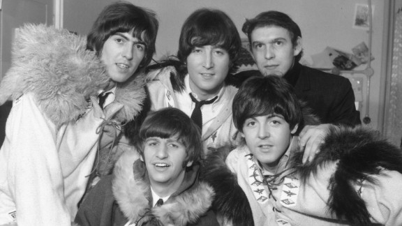 Aspinall with the band in 1964.
