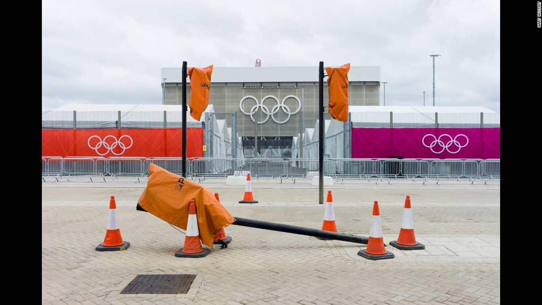 Entrance to Queen Elizabeth Olympic Park, London