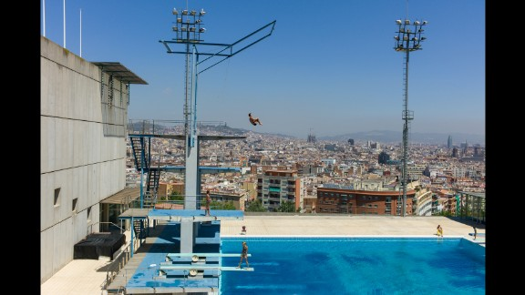 Montjuic Municipal Pool, Barcelona