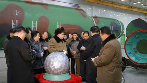 In March, 2016, state media says Pyongyang has miniaturized nuclear warheads.