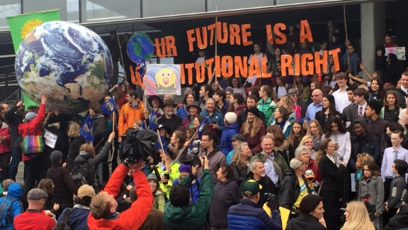 This group of young plaintiffs claims the administration is failing to protect their right to a habitable planet. The US Government has filed a motion with the Supreme Court to halt the trial, which is set for 29 October.