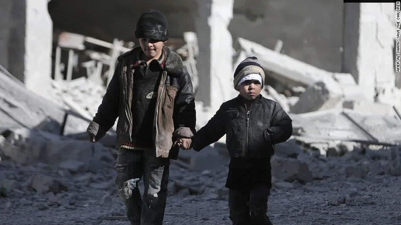 Syrian children suffer from war