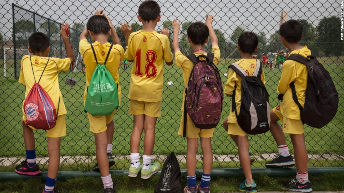 """I hope to make it into the national football team and then make it into the Spanish clubs like Barcelona and Real Madrid,"" 14-year-old pupil He Xinjie told CNN."