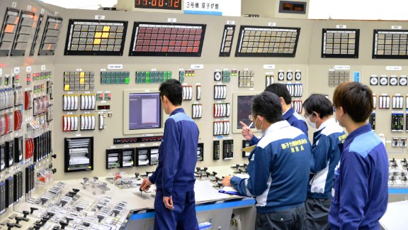 The control room of the Takahama plant No. 3 nuclear reactor that was ordered to cease operating.