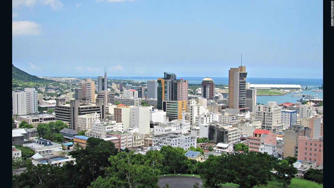 Capital city Port Louis has boomed in the past several years, with many banks and companies dotting the skyline.