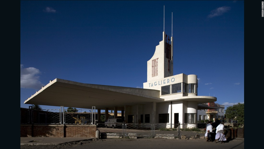 "Asmara, the capital of Eritrea, has become the country's first UNESCO World Heritage site. Its modernist architecture, built mostly between 1935-1941 under an Italian colonial government, gave it its nickname ""La Piccola Roma."" The Fiat Tagliero, a disused car service station, is probably the city's most famous building."
