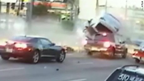 Caught on camera: Multi-vehicle pileup sends cars flying
