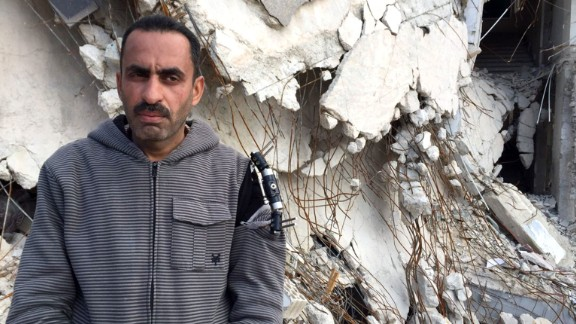 "Lawyer Talal al-Jawy was inside the courthouse in rebel-held Idlib province, Syria when it was hit by an airstrike in December 2015. ""The Russian planes target anything that works in the interest of the people,"" he said."
