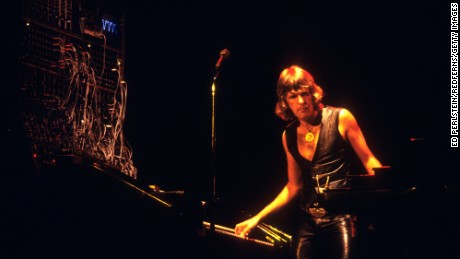 Keith Emerson, keyboardist for influential progressive rock group Emerson, Lake & Palmer, has died, according to the band's official Facebook page. Emerson performing with ELP at the Oakland Coliseum in August 1977.
