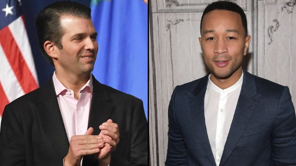 "Musician John Legend was not having it in March 2016 when Donald Trump Jr. said demonstrators at a Chicago campaign rally for his father could not explain what they were protesting. ""I think they were protesting your racist father. This isn't complicated,"" Legend said on Twitter.  A Trump supporter on Twitter said Legend has ""no education,"" to which Legend replied, ""the Donalds and I graduated from the same University, funny enough,"" referring to the University of Pennsylvania."