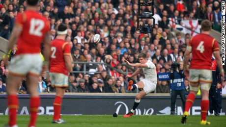 England's Owen Farrell kicked six penalties and a conversion against Wales.