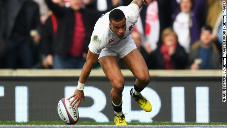 Watson scored the opener for a rampant England in the first half at Twickenham.