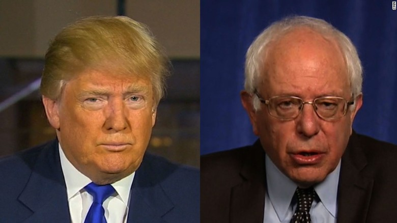 Trump, Sanders disagree over protesters
