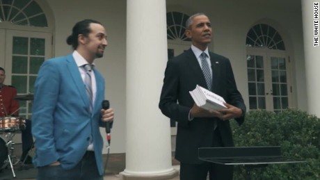 'Hamilton' creator debuts voting PSA featuring Obama, Ryan