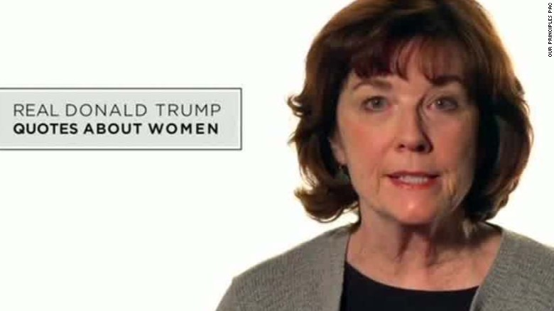 Anti-Trump ad shows women reading Trump comments