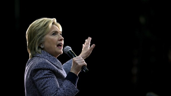 CHARLOTTE, NC- MARCH 14:  Democratic presidential candidate former Secretary of State Hillary Clinton speaks during a Get Out the Vote event at Grady Cole Center on March 14, 2016 in Charlotte, North Carolina. Hillary Clinton is campaiging Illinois and North Carolina.  (Photo by Justin Sullivan/Getty Images)