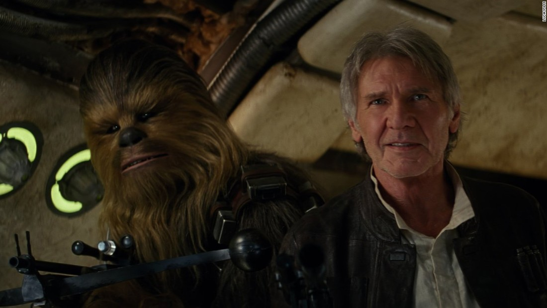 "Harrison Ford reprised his role as Han Solo in 2015's blockbuster ""Star Wars: Episode VII - The Force Awakens."""