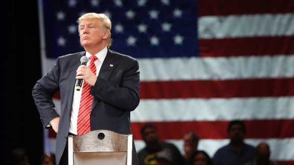 TAMPA, FL - MARCH 14: Republican presidential candidate Donald Trump speaks to supporters during a town hall meeting on March 14, 2016 at the Tampa Convention Center in Tampa , Florida. Trump is campaigning ahead of the Florida primary on March 15. (Photo by Brian Blanco/Getty Images)