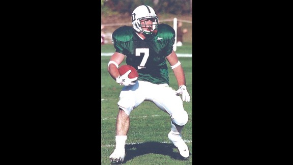 Patrick Risha played football in high school and college.