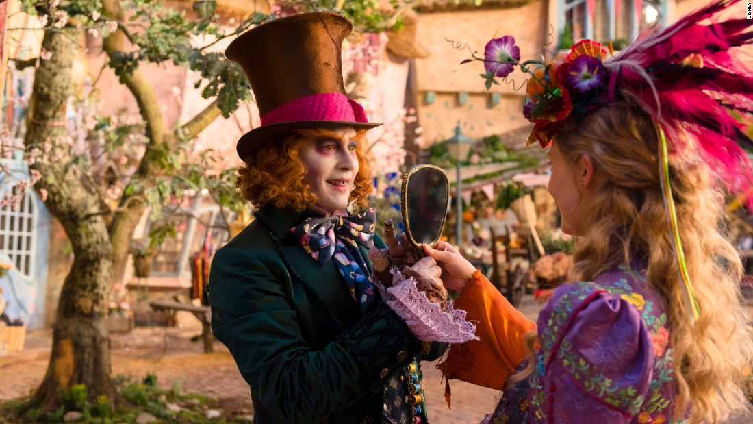 "Alice (Mia Wasikowska) is back in ""Alice Through the Looking Glass,"" the sequel to 2010's ""Alice in Wonderland."" Also back: Johnny Depp as the Mad Hatter, Tim Burton as the director and Lewis Carroll as the British author on whose works the films are based. It opens May 27."