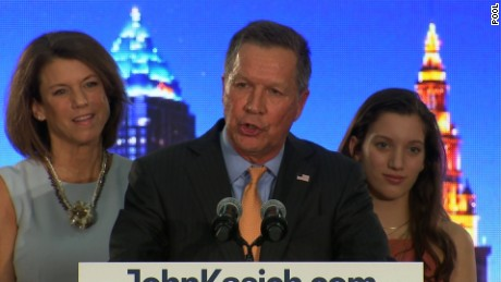 @ 20: 48 - crowd cheers when CNN calls Ohio for Kasich