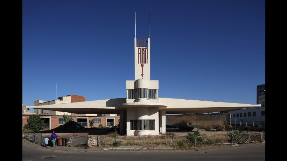 The most famous building in the city is the Fiat Tagliero, a car service station. Its shape is evocative of an airplane -- a typical Futurist motif. Though not in current use, the building is in good working order after having been renovated in the early 2000s.