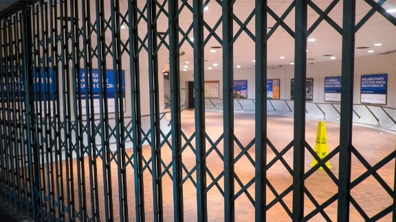 WASHINGTON, DC - March 16: The entrance to the Metro Center station is gated closed during the morning rush hours on March 16, 2016 in Washington, DC. Metro's General manager Paul Wiedefeld made the decision to close for 29 hours for a safety inspection after a recent fire. Metro makes approximately 725,000 trips per day in the D.C. Metro area. (Photo by Pete Marovich/Getty Images)