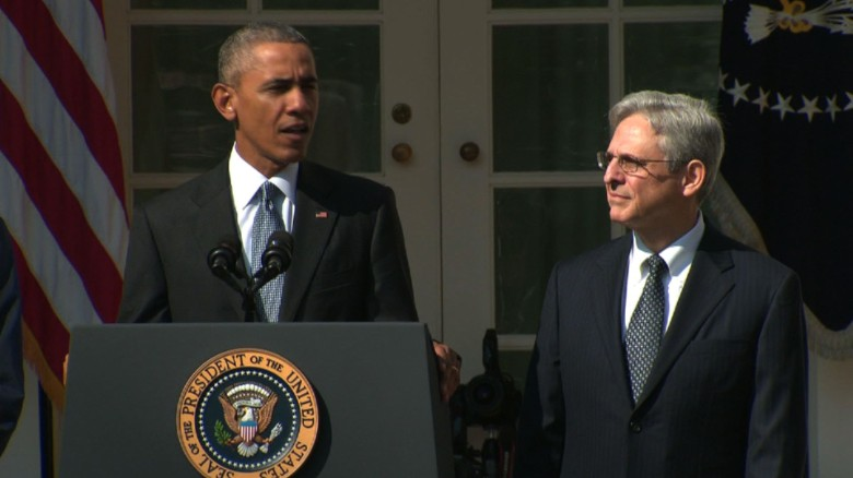 Obama nominates Merrick Garland to Supreme Court