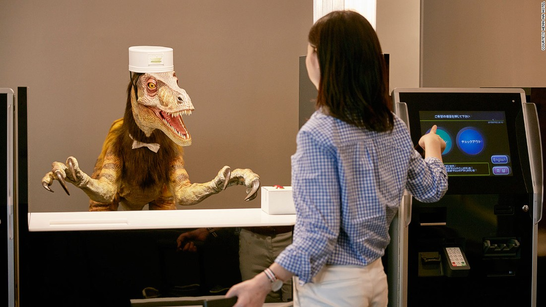 The rise of the robots has sparked concerns that machines could put travel and tourism workers out of jobs. Dinosaurs are probably safe.