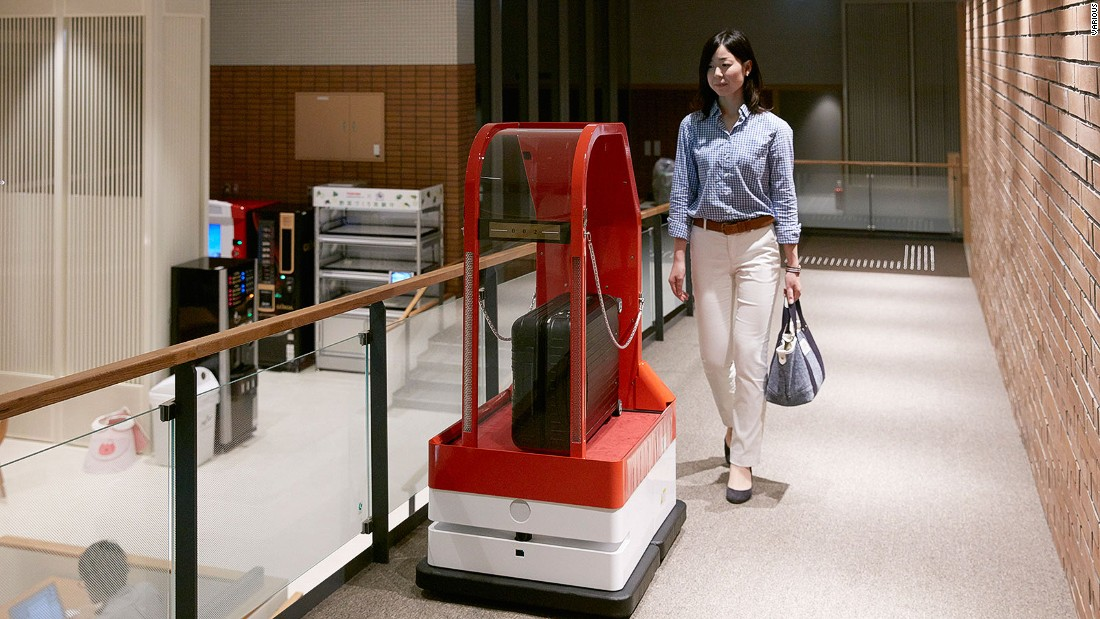 "Travelzoo's European president, Richard Singer, points out that the Japanese robot hotel has humans working behind the scene. ""I would be very surprised if we get to the point where hotels are entirely manned by robots."""