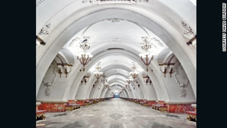 The ornate beauty of Moscow's palatial metro stations