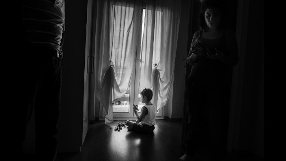 Alex plays in his hotel room in Trieste, where he undergoes checkups at the city hospital every six months.