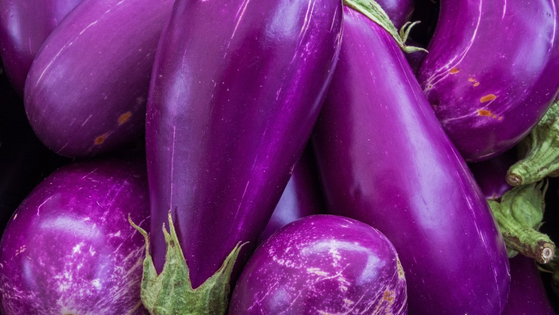Eggplant owes its vibrant skin color to the presence of anthocyanin.