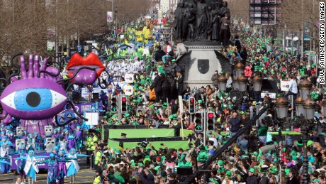 Dublin's massive St. Patrick's Day parade won't happen this year, local officials announced. It was canceled as a preventative measure against the novel coronavirus.