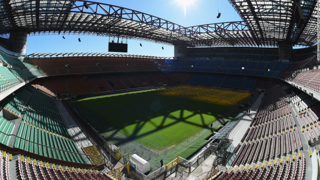 The fabled San Siro in Milan will host the final on May 28.