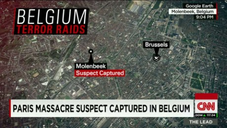 Raids lead to five arrests across Belgium
