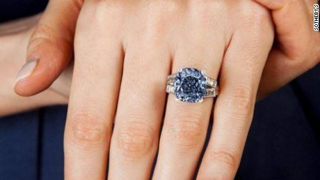 The worlds most expensive blue diamond the Oppenheimer Blue sets a