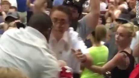 Trump protester punched, kicked at rally
