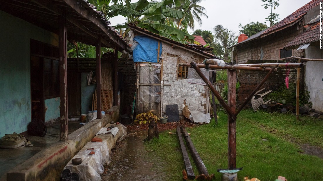 Ekram, a man with a psychosocial disability has been held in pasung -- the local practice of confining individuals believed to have been possessed by spirits -- in this shed next to his family home in Cianjur, West Java.