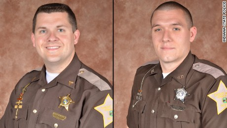 Sgt. Jordan J. Buckley, left, and Deputy Carl A. Koontz were shot trying to serve a warrant.